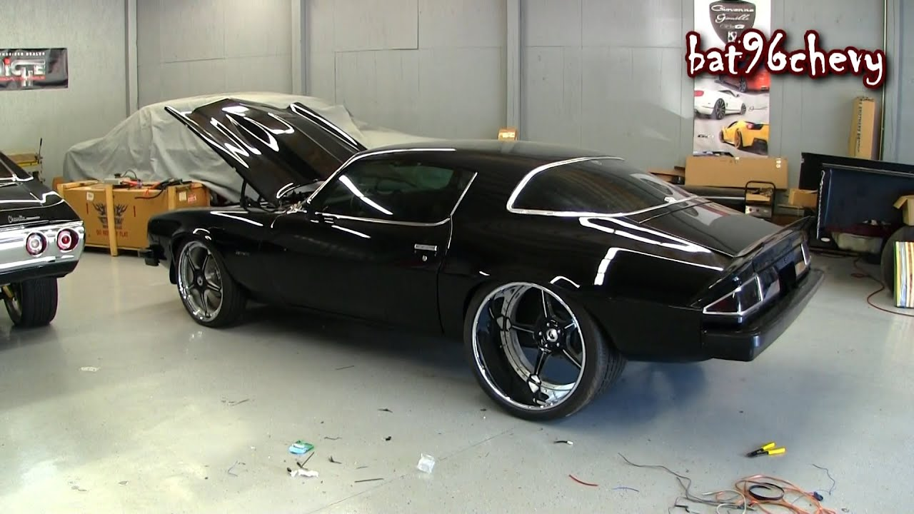 Ultimate Audio Black 1976 Camaro On 22 Quot 24 Quot Forgiatos