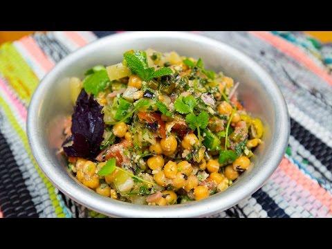Легкий рецепт Постное меню Салат с нутом и овощами