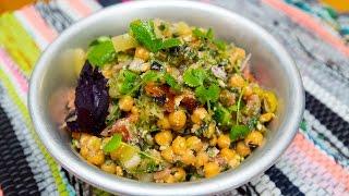 Постное меню: Салат с нутом и овощами
