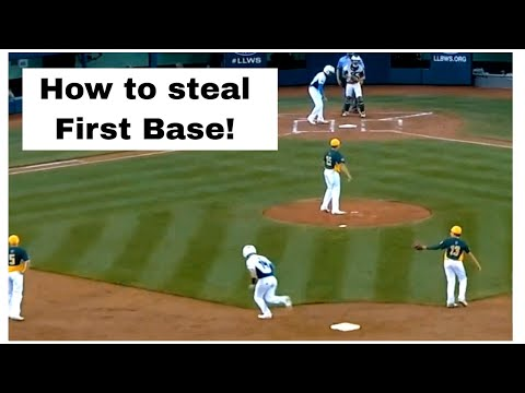 Runner steals FIRST base? At the LLWS 2017.