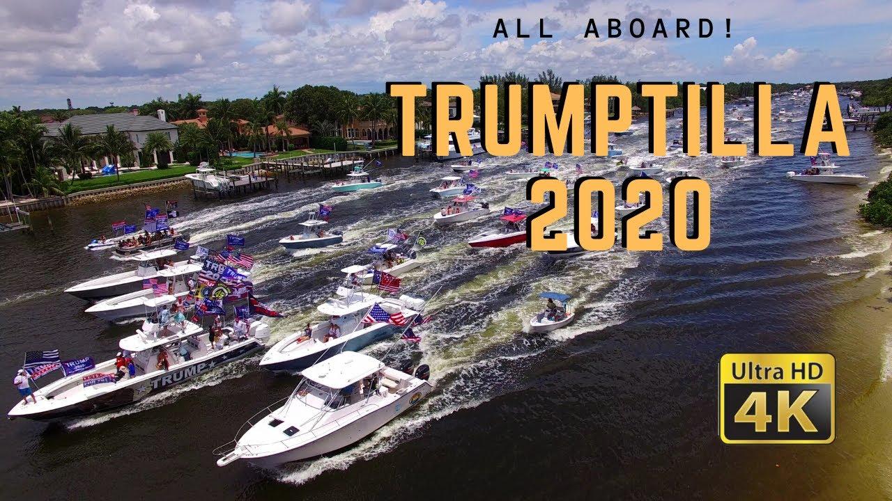 Trump Flotilla Boat Parade Trumptilla Birthday Best Video Footage Jupiter To Mar A Lago Fl Youtube