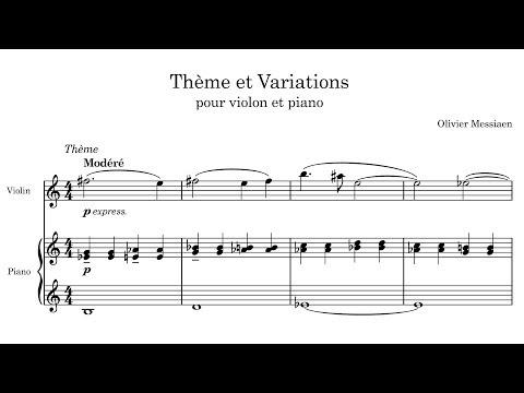 Olivier Messiaen - Thème et Variations (1932)