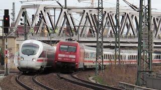 Bischofsplatz mit Dresdner S-Bahn +3 Werbeloks, ICEs, SBS, trilex +VT 650, Tram +Tatra, IC & mehr