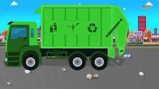 Сміттєвоз | Вантажівка | Відео Для Дітей