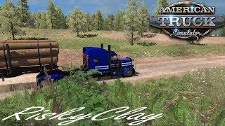 American Truck Simulator Ep#113. First haul of Logs in The new state of Oregon,as a Owner Operator