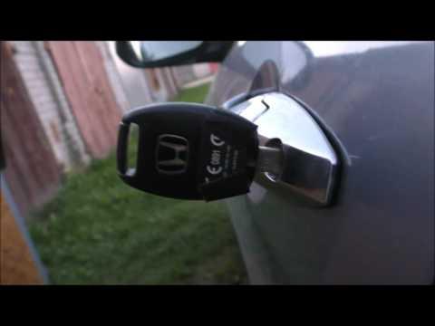 Honda Accord 7  -  Замена личинки замка.