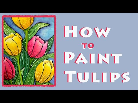 How to Paint Tulips / Easy, Fun and Whimsical acrylic painting