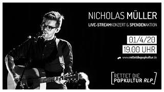 Nicholas Müller (ex Jupiter Jones) • Rettet die Popkultur RLP • Spendenaktion & Live-Stream Konzert