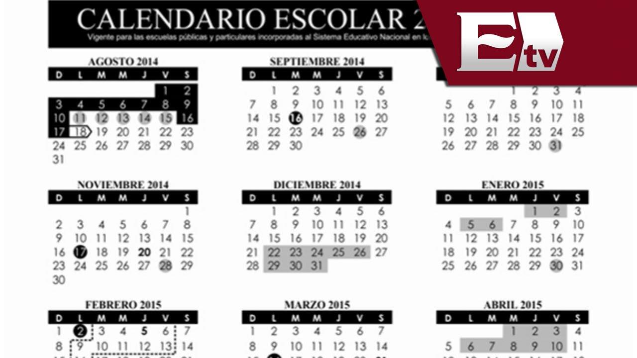 Calendario 18 19 Sep.Sep Publica Calendario Escolar 2014 2015 Excelsior Informa