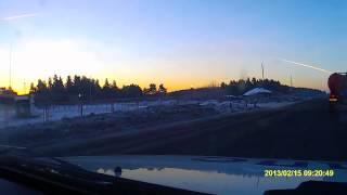 Падение метеорита Алапаевск Свердловская  15.02.2013.AVI