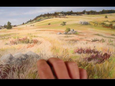 Landscape Painting with Pastels