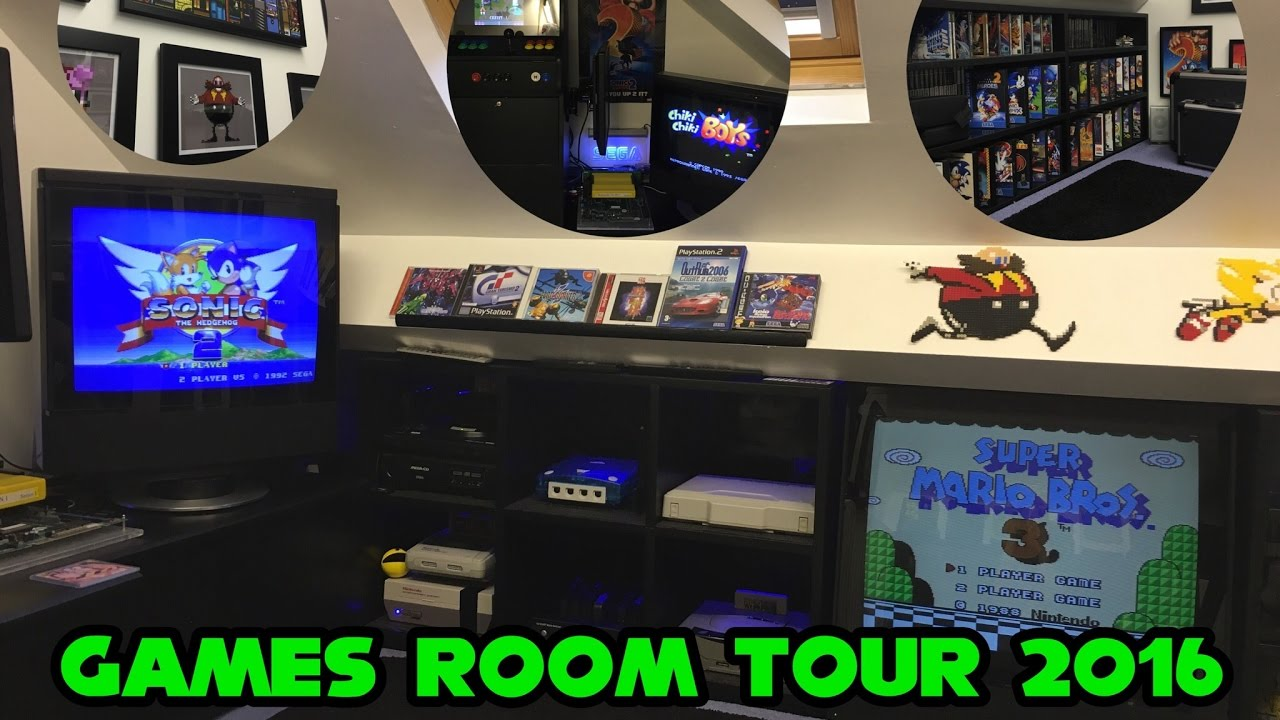 Games Room 2016 Man Cave Retro Gaming Setup Amp Tour Youtube