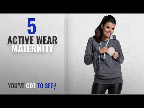 Top 10 Active Wear Maternity [2018]: Zeta Ville - Women's maternity nursing hood sweatshirt