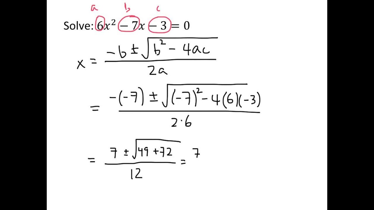 example the quadratic formula youtube