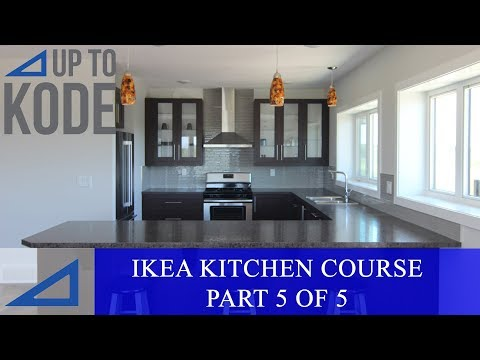 IKEA Kitchen Cabinet Course Part 5/5: How to Install Toe Kicks, Island Back  Panels and Door Handles