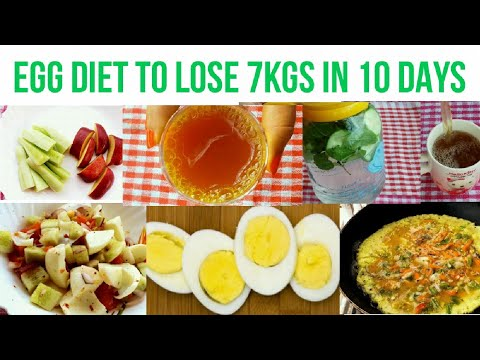 Egg Diet | Lose 7 Kgs in 10 days | 900 Calorie Meal Plan | how to lose weight fast | Lose belly fat