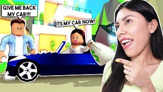 I BECAME A GOLD DIGGER & STOLE MY HUSBAND'S CAR! - Roblox Roleplay - Adopt Me