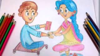 Rakshabandhan Special || Drawing of Brother and Sister || Step by Step