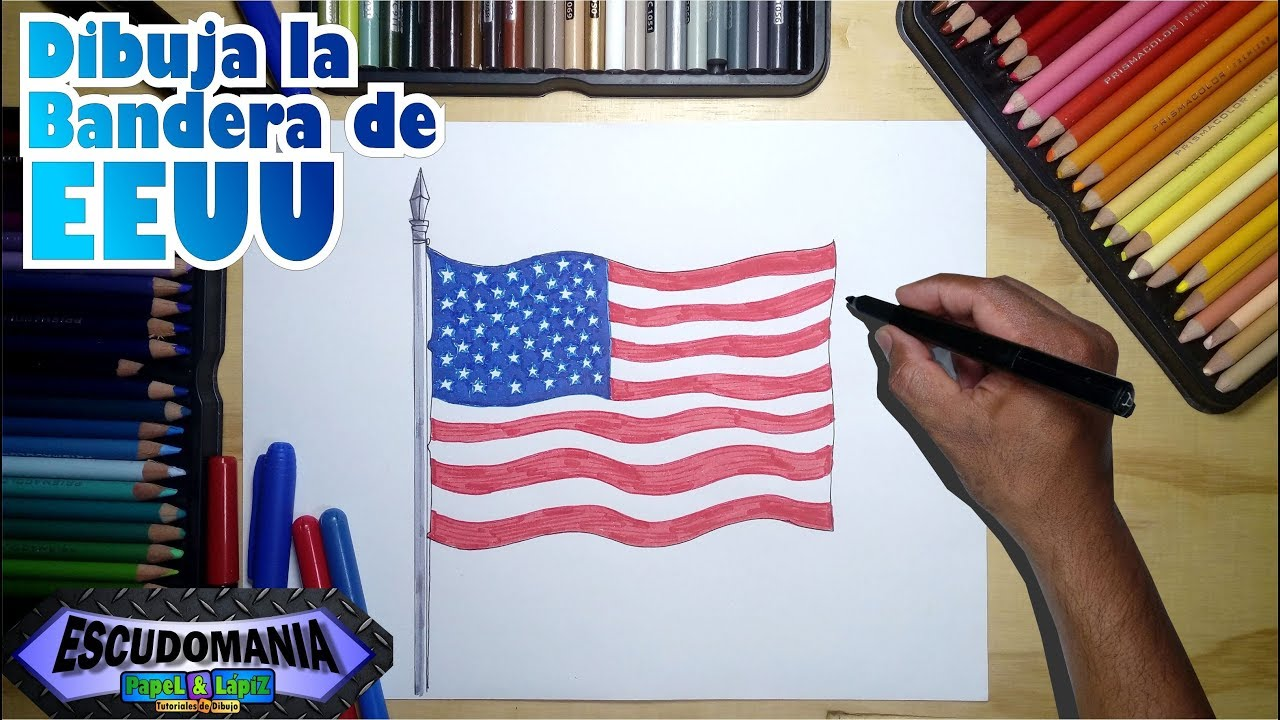 Cómo Dibujar La Bandera De Eeuu How To Draw The Eeuu Official Flag