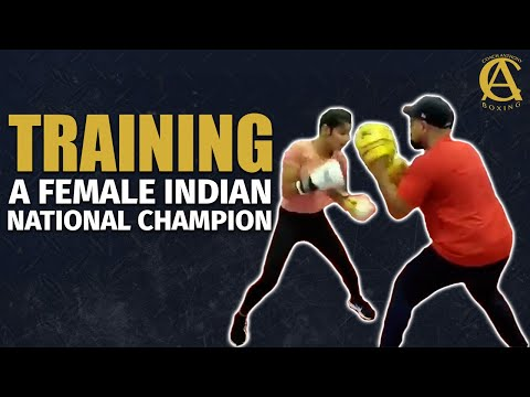 Coach Anthony Training Female Indian National Champion !