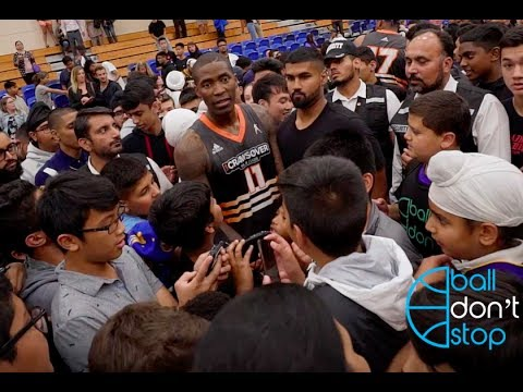 Jamal Crawford Gets MOBBED By Fans After NASTY Performance In Vancouver, BC!!