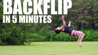 learn how to backflip in 5 minutes asap