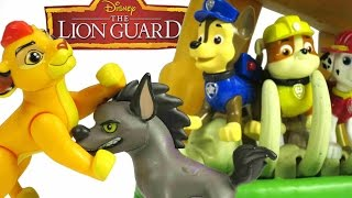 LION GUARD & Paw Patrol Defend The Pride Lands Playset + Marshall, Chase & Kion a Lion Guard Parody