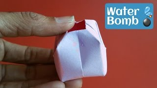 """How to make an easy  """"💦Water Bomb 💣"""" (Holi Special) - Fun Origami Tutorial by Paper Folds."""