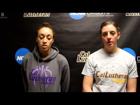 Erica Whitley and Channing Fleischmann CLU-Occidental Post Game Jan. 5, 2013