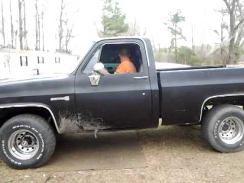 77 chevy 400 small block new headers first crank youtube. Black Bedroom Furniture Sets. Home Design Ideas