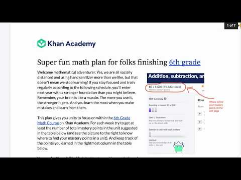 Khan Academy learning plans for school closures