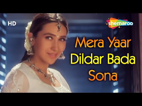 Mera Yaar Dildar Bada Sona  Jaanwar Songs  Akshay Kumar  Karisma Kapoor  Sukhwinder Singh