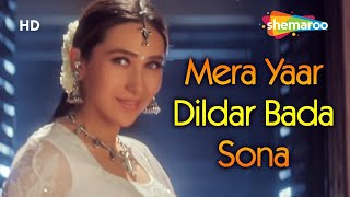 Download Mera Yaar Dildar Bada Sona - Jaanwar Songs - Akshay Kumar - Karisma Kapoor - Sukhwinder Singh MP3 song and Music Video