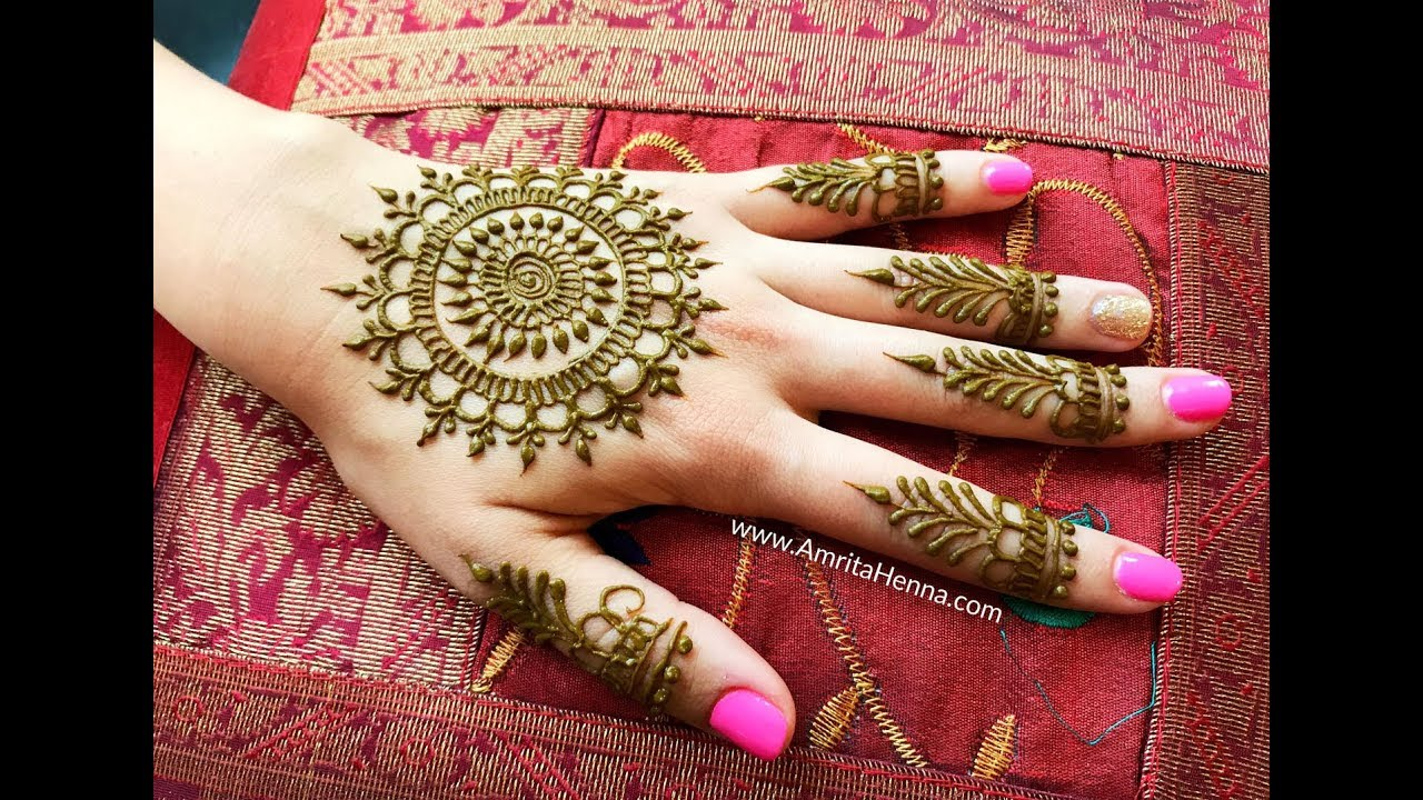 NEW BEAUTIFUL MEHNDI MANDALA DESIGN