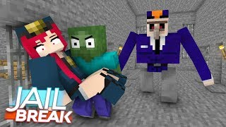 Monster School : JailBreak Part 2 - Minecraft Animation