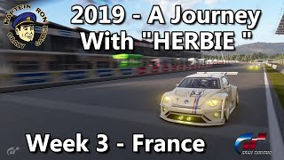 2019 A Journey with Herbie in France week 3. Gran Turismo Sport KapteinRon