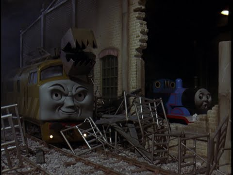 Thomas and the Magic Railroad sound effects: Diesel 10 attacks the Sheds