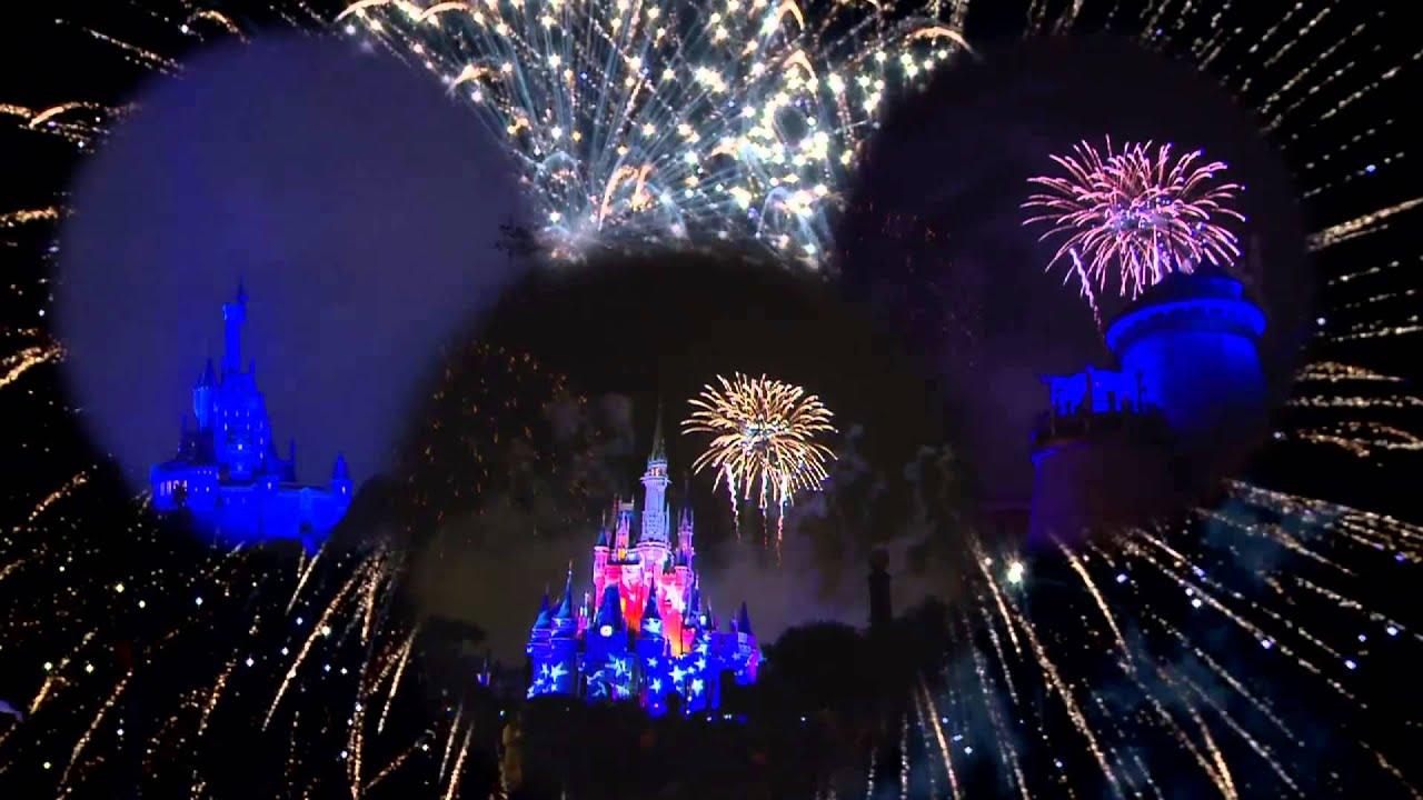 4th of July Fireworks at Disney World s Magic Kingdom multi angle