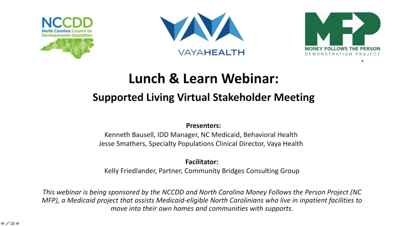 Supported Living Virtual Stakeholder Meeting