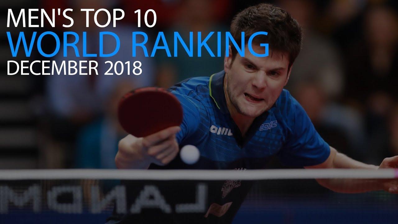 Top 10 Men S Table Tennis World Ranking December 2018