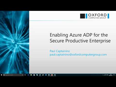 Enabling Azure Active Directory Premium for the Secure Productive Enterprise   Web