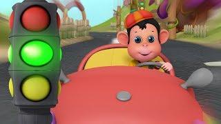 BANDAR MAMA KI NAYI MOTOR CAR   Hindi Rhymes for Children   Infobells
