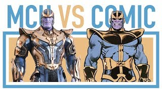 MARVEL COMICS VS MCU CHARACTERS • All comic comparisons part 2 #33