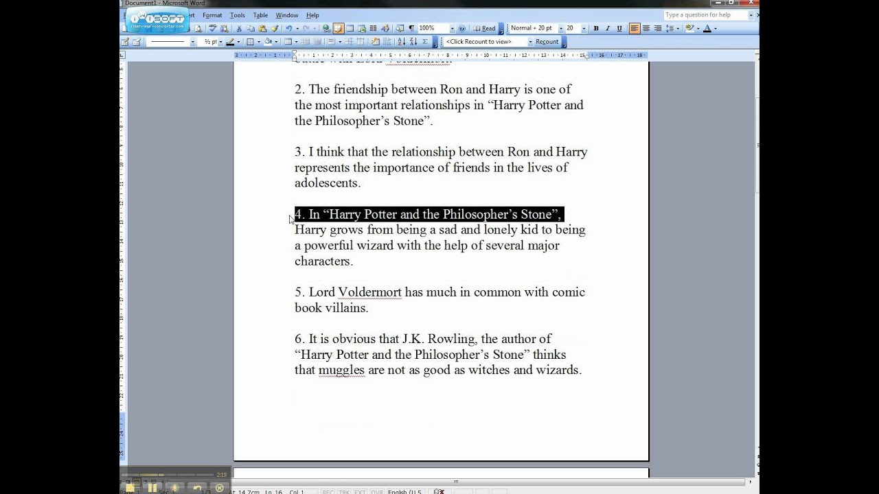 Weak And Strong Thesis Statements Harry Potter Examples