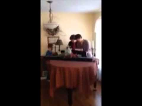 Christmas Surprise Reaction to Baby Grand Piano