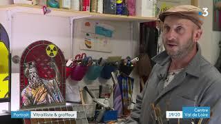 Portrait : Vincent Pascal vitrailliste et graffeur près de Chartres