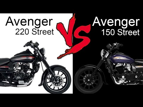 Bajaj Avenger 220 Street Vs Bajaj Avenger 150 Street   Comparison Review (EXTENDED)