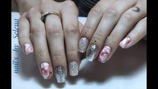 Маникюр товарами с AliExpress Тестирую блестки Venalisa Мрамор на ногтях