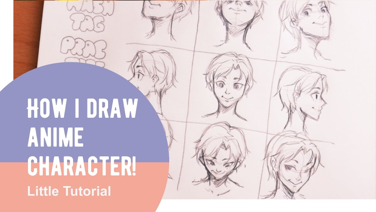 Little tutorial how i draw anime characters face head
