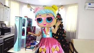 Super present for Super Polina from giant LOL doll Bon Bon.
